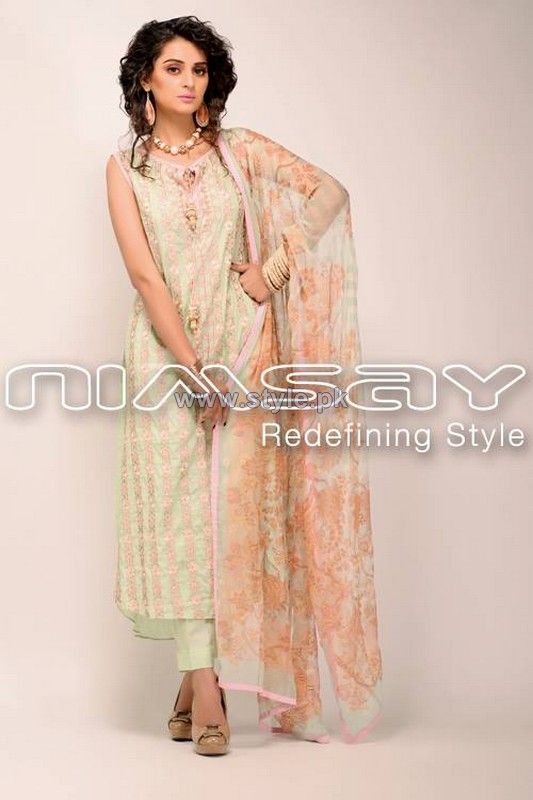 Nimsay Embroidered Classic Dresses 2014 For Summer 2