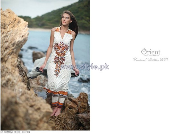 Orient Textiles Premium Lawn Dresses 2014 For Women 8