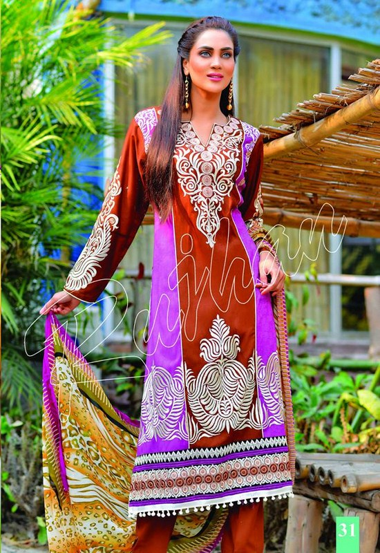 Rujhan Fabric Spring Dresses 2014 Volume 2 For Women 005