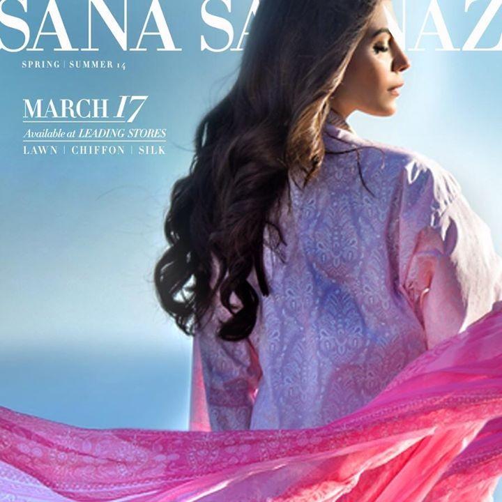 Sana Safinaz Lawn 2014 for Women