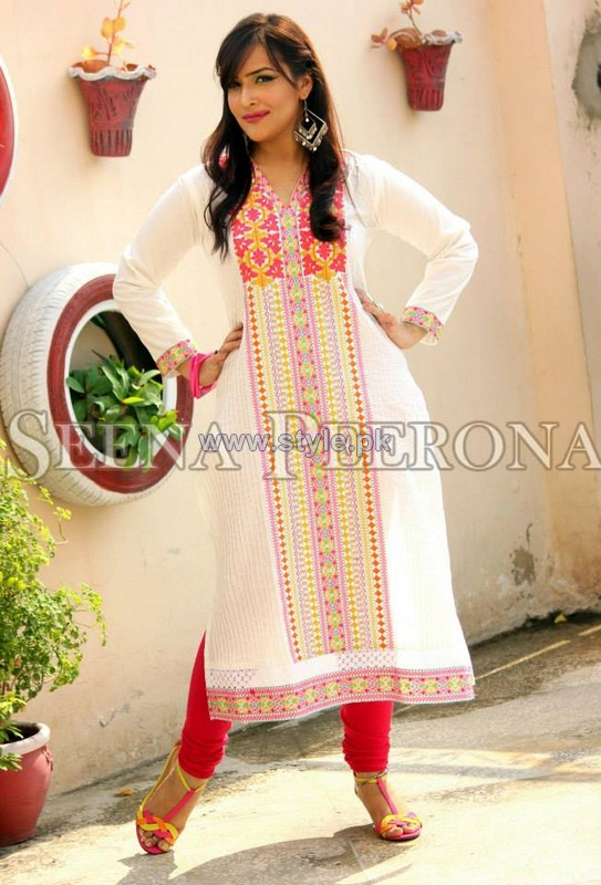 Seena Peerona Casual Dresses 2014 For Girls 3