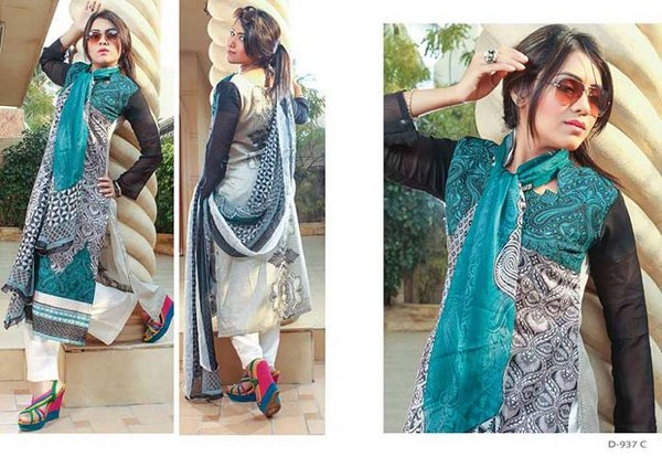 Shahzeb Designer Lawn Dresses 2014 For Women 004