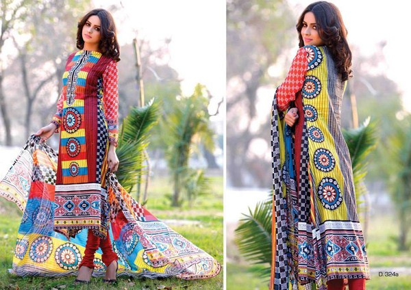 Sitara Textiles Chiffon Lawn Dresses 2014 For Women 0015