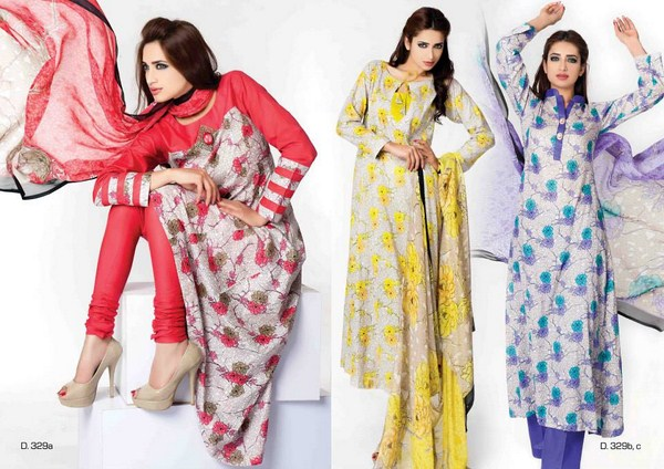 Sitara Textiles Chiffon Lawn Dresses 2014 For Women 003