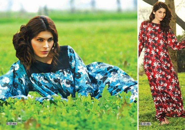 Sitara Textiles Lawn Dresses 2014 Volume 1 For Women 003