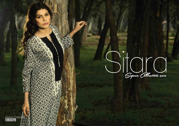 Sitara Textiles Lawn Dresses 2014 Volume 1 For Women 009