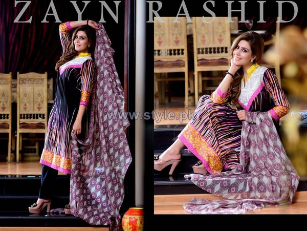 Zayn Rashid Lawn Prints 2014 For Women 6