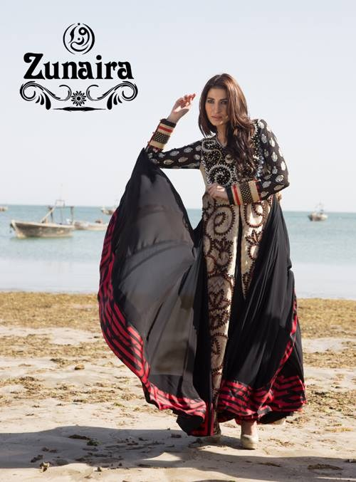 Zunaira Lounge Summer Dresses 2014 For Women 004