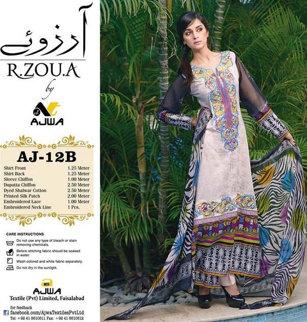 Ajwa Textile Arzo Lawn Dresses Volume 1 For Women 004