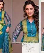 Ajwa Textiles Lawn Dresses 2014 Volume 4 For Women 001