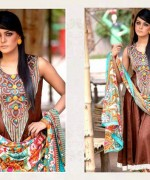 Ajwa Textiles Lawn Dresses 2014 Volume 4 For Women 0010