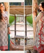 Ajwa Textiles Lawn Dresses 2014 Volume 4 For Women 003