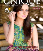 Ajwa Textiles Lawn Dresses 2014 Volume 4 For Women 006