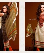 Ajwa Textiles Lawn Dresses 2014 Volume 4 For Women 007