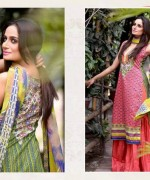 Ajwa Textiles Lawn Dresses 2014 Volume 4 For Women 008