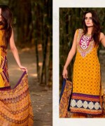 Ajwa Textiles Lawn Dresses 2014 Volume 4 For Women