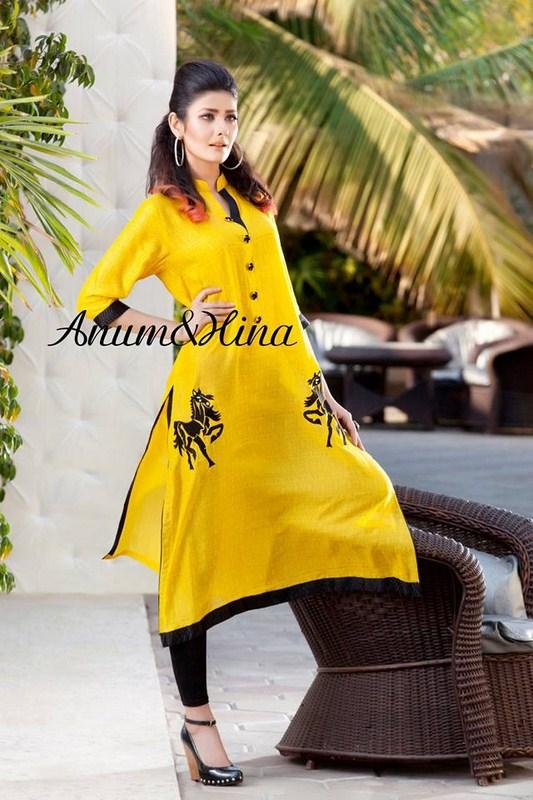Anum And Hina Spring Dresses 2014 For Women 002