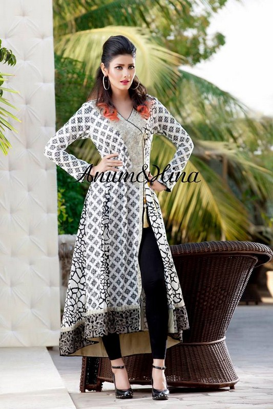Anum And Hina Spring Dresses 2014 For Women 007