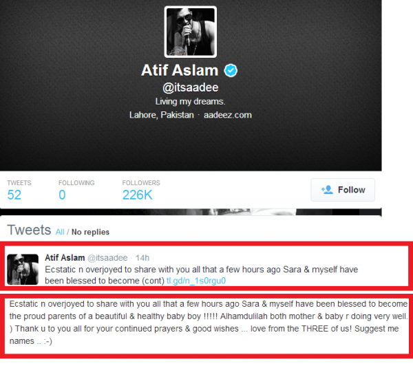 Atif Aslam Tweeted On Social Media.