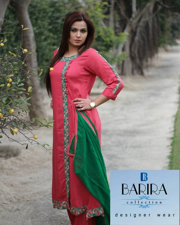 Barira Collection Summer Dresses 2014 For Women 001