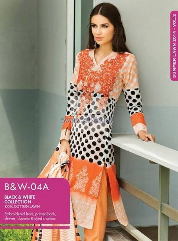 Gul Ahmed Lawn Prints 2014 Volume 2 14