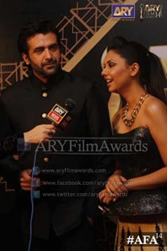 Hasan Ahmed and Sunita Hasan at the red carpet of #AFA14