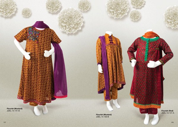 Junaid Jamshed Summer Dresses 2014 Volume 2 For Kids 003