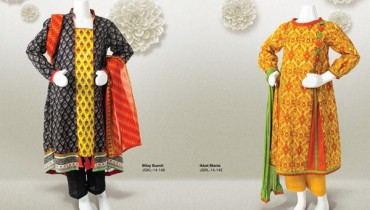 Junaid Jamshed Summer Dresses 2014 Volume 2 For Kids 007