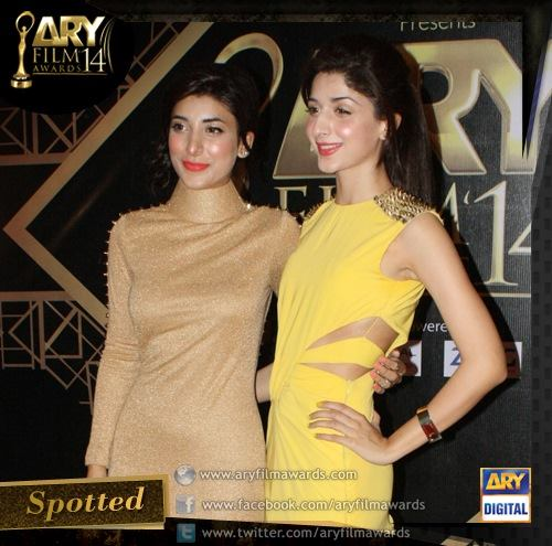 Mawra Hussain and Urwa Hussain at AFA14