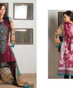 Pardesi Textile Umaimahs Embroidered Lawn Dresses 2014 For Women 009
