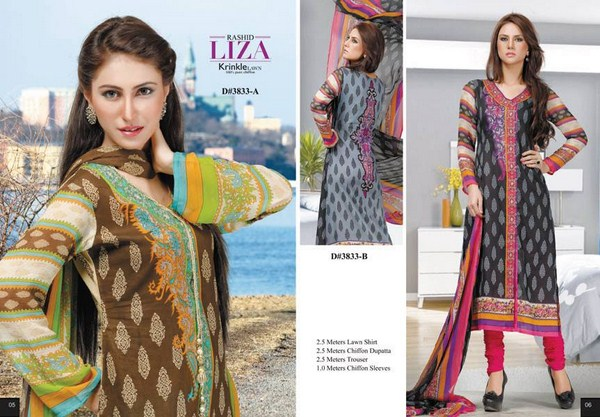 Rashid Textiles Summer Dresses 2014 Volume 3 For Women 009