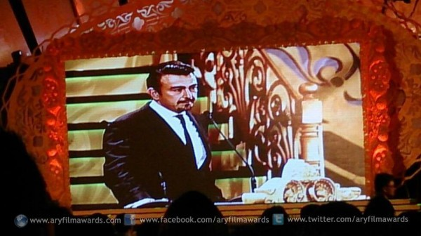 Superstar Shaan Shahid, the host of ARY Film Awards