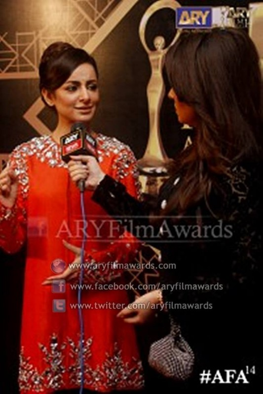 Syeda Sarwat Gillani at the red carpet of #AFA14