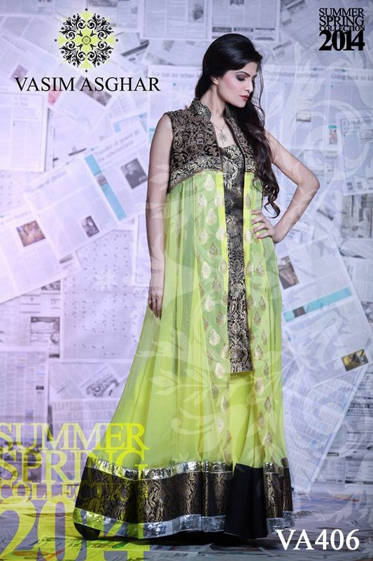 Vasim Asghar Summer Dresses 2014 For Women 002