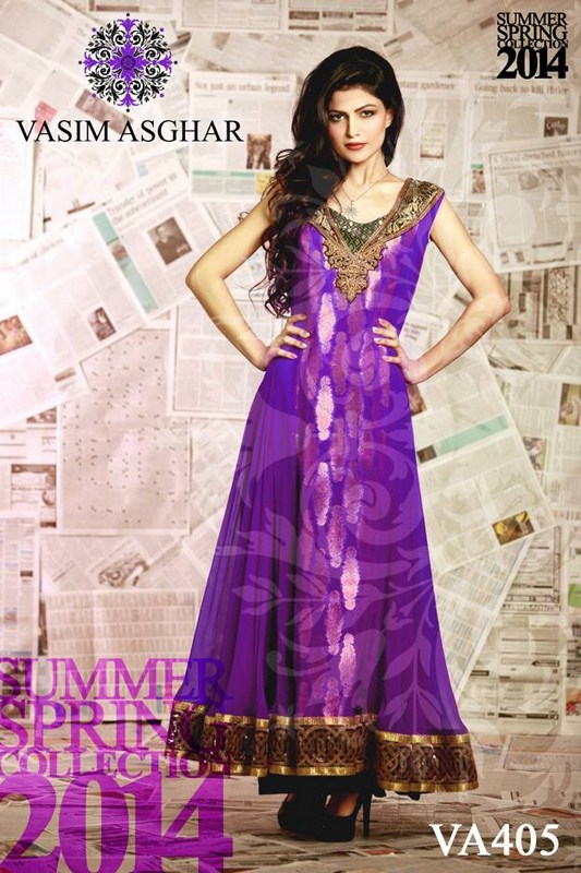 Vasim Asghar Summer Dresses 2014 For Women 004