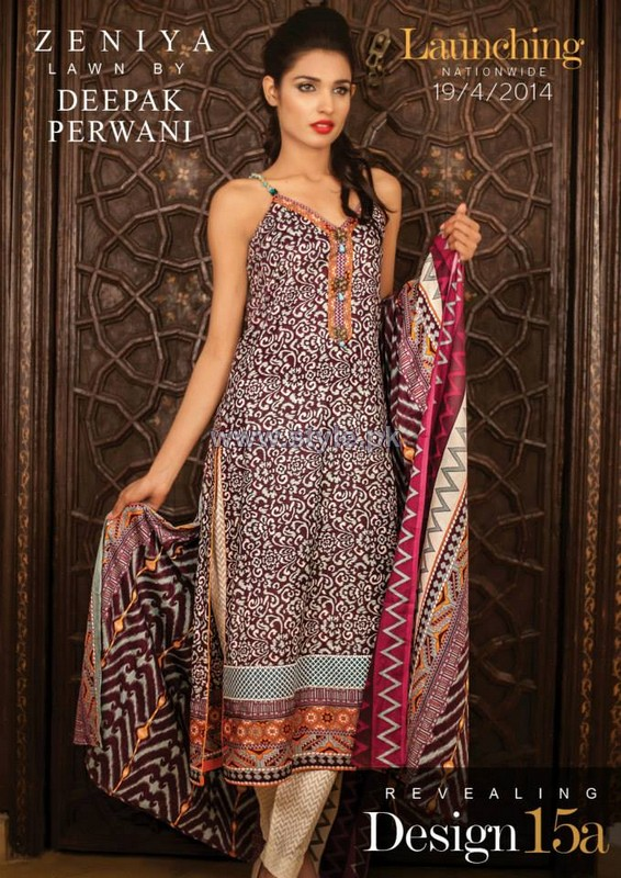 Zeniya Lawn Dresses 2014 For Summer 4