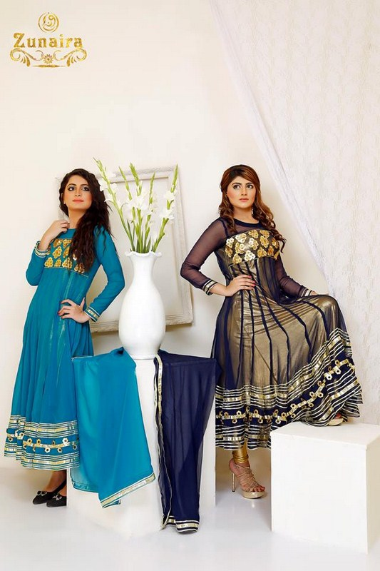 Zunaira Lounge Formal Dresses 2014 For Women