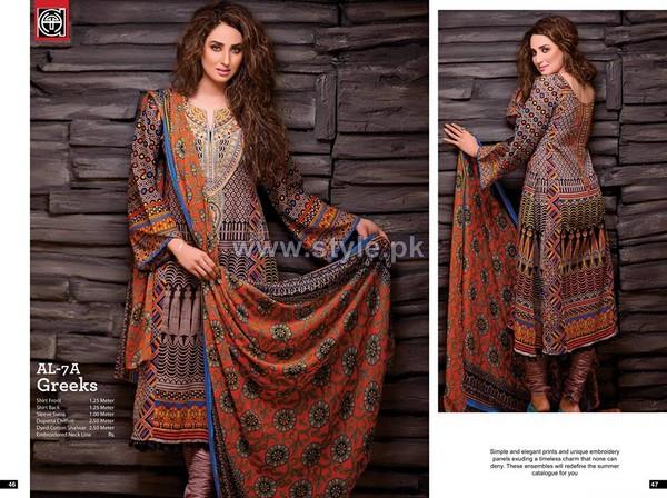 Al-Hamra Fabrics Lawn Prints 2014 For Women 9