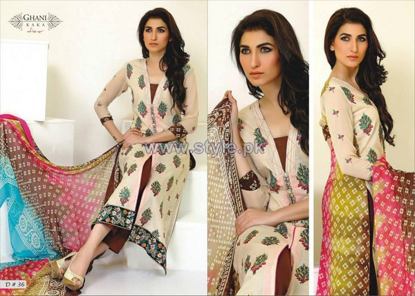 Ghani Textile Embroidered Lawn 2014 For Women 6