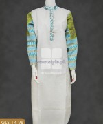 Gul Ahmed White Jacquard Dresses 2014 For Summer 1