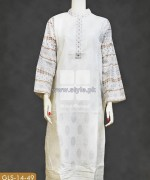 Gul Ahmed White Jacquard Dresses 2014 For Women 6
