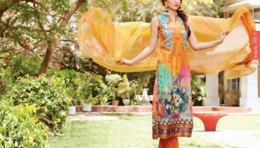 Rashid Textiles Monarca Lawn Dresses 2014 Volume 3 For Women