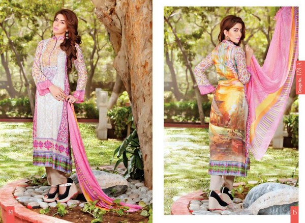 Rashid Textiles Monarca Lawn Dresses 2014 Volume 3 For Women0 005
