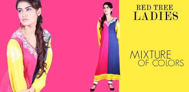 Red Tree Kurtis for Summer 2014