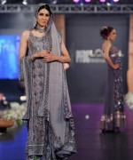 Trend Of Grey Bridal Dresses 2014 For Walima Function 003