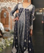 Trend Of Grey Bridal Dresses 2014 For Walima Function 006