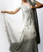 Trend Of Grey Bridal Dresses 2014 For Walima Function 007
