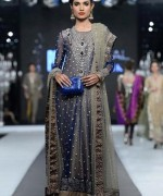 Trend Of Grey Bridal Dresses 2014 For Walima Function