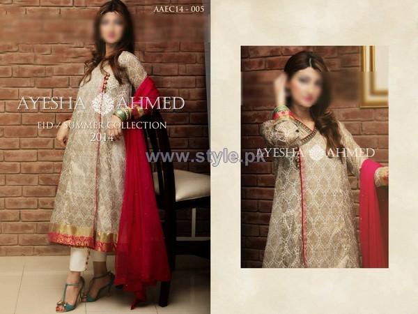 Ayesha Ahmed Eid Summer Dresses 2014 For Girls 1