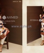 Ayesha Ahmed Eid Summer Dresses 2014 For Girls 2
